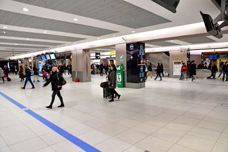 Paris; France - november 22 2019 : the Paris Nord station opened in 1846; in the 10th arrondissement Editorial