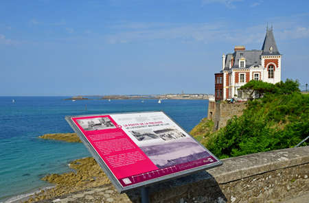 Dinard; France - july 28 2019 : the Villa Roche Brune