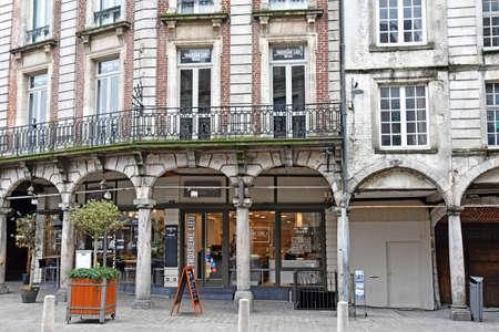 Aras, France - january 24 2020 : the Taillerie street