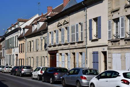 Magny en Vexin , France - march 16 2017 : the city center Sajtókép