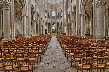 Mantes la Jolie, France - june 13 2018 : the collegiate church