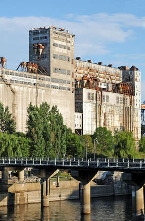 Montreal, Quebec; Canada- june 25 2018 : the Pointe du Moulin, an old grain mill