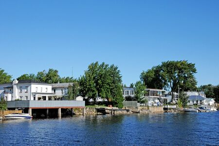 Quebec; Canada- june 25 2018 : the picturesque village of Roberval