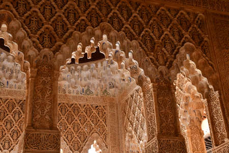 Granada; Spain - august 27 2019 : hall of Abencerrajes in the Alhambra palace Redakční