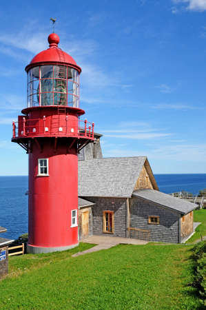 Quebec; Canada- june 25 2018 : the lighthouse of Pointe a la Renommee in Gaspesie