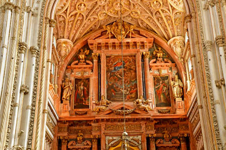Cordoba; Spain - August 28 2019: the Mosque Cathedral