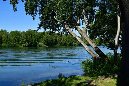 the Seine riverside view background.
