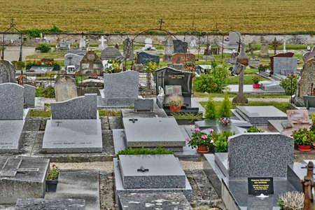 La Roche Guyon; France - July 27 2018: the cemetery