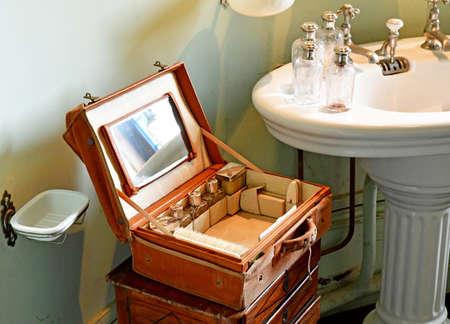 Cere la Ronde, France - july 15 2020: bath room in the medieval castle of Montpoupon