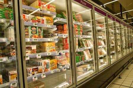 Poissy; France - june 11 2020: frozen food in a supermarket