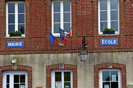 Richeville, France - july 2 2020: the city hall