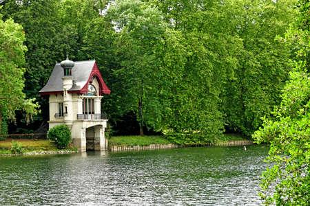 Olivet; France - july 13 2020: the boathouse on the Loiret banks