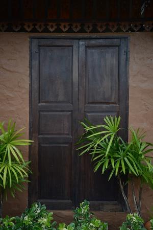 wooden door photo