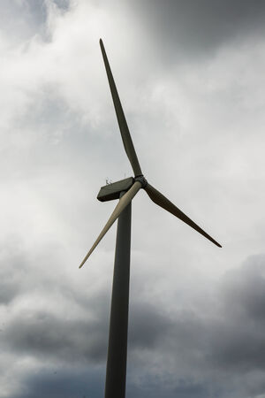 The turbine wind in the field for electricity  photo