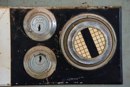 Old safe to store valuable possessions in the home. Stock Photo