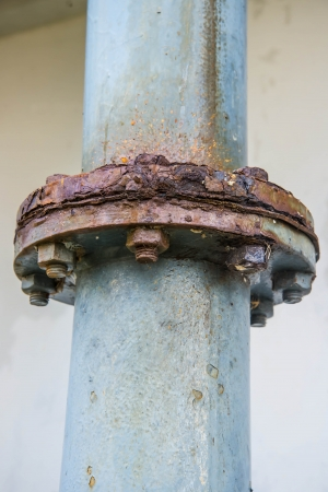 corrode: Point of water pipes corrode. rust pipe Stock Photo