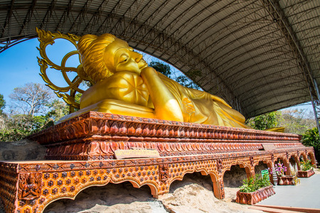 Buddha statue in the temple of Thailand  photo