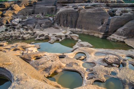 malevolent: 3000 bok ,Sam pan bok, Ubon-ratchathani, Grand Canyon of Thailand  Stock Photo