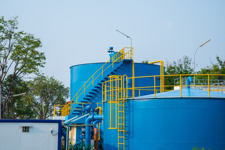 Water treatment plants of the Waterworks in Thailand. Banco de Imagens - 39104090