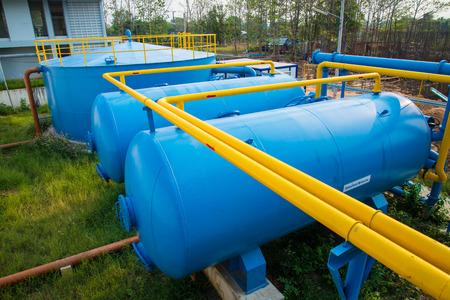 waterleiding: Waterzuivering planten van de Waterwerken in Thailand. Stockfoto