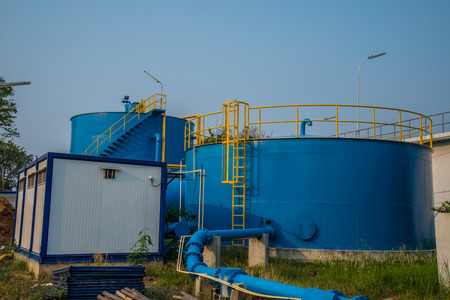 sludge: Water treatment plants of the Waterworks in Thailand.