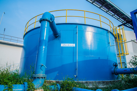 Water treatment plants of the Waterworks in Thailand.