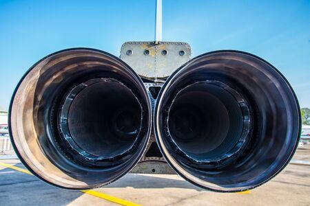 jets: Hose jets of jets parked on the runway.