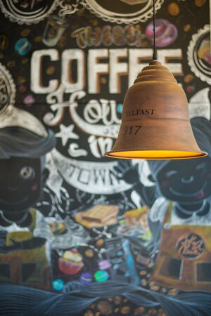 spot clean: Lamp and background of the coffee cafe. background
