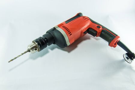 electric drill: Electric drill on white background