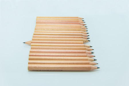 Short pencil on white background Stock Photo