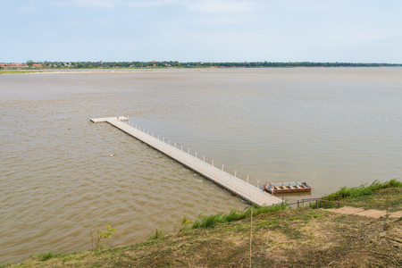 khong river: Floating raft on the river in Thailand. Khong River