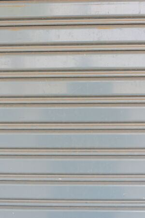 rolling garage door: Zoom shot of Steel shutters for background.