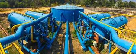water plants: Water treatment plants of the Waterworks in Thailand.