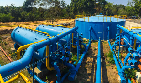 water filter: Water treatment plants of the Waterworks in Thailand.