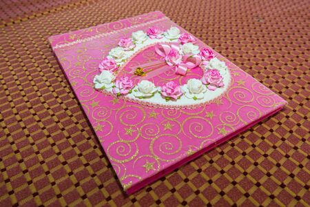 attended: Diary Memories of the wedding for those who attended Stock Photo