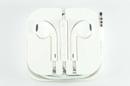 earphone: Earphone on white background.