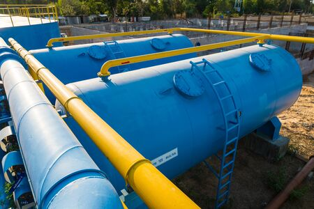 environmental sanitation: Water treatment plants of the Waterworks in Thailand.