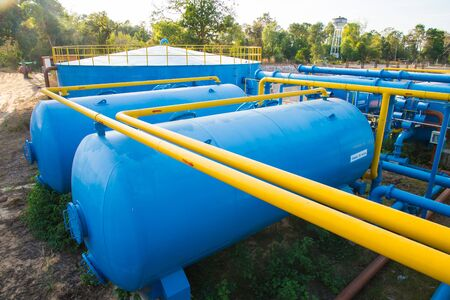turbidity: Water treatment plants of the Waterworks in Thailand.
