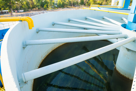 solids: Water treatment plants of the Waterworks in Thailand.