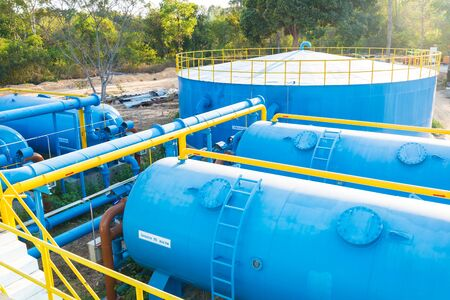 sedimentation: Water treatment plants of the Waterworks in Thailand.