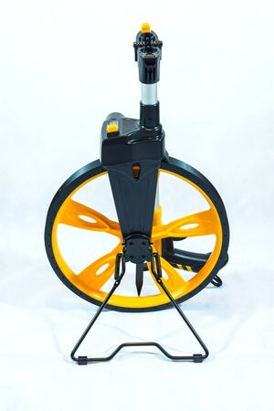 detects: Rolling Wheels for survey on white background. isolated.