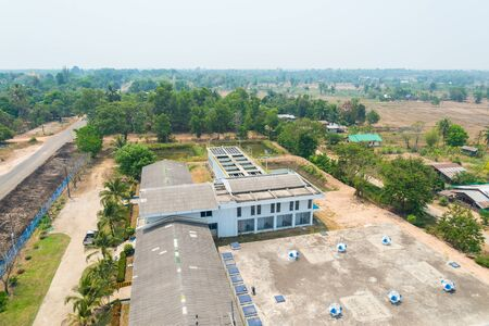 solids: Top view of water treatment plants in Thailand.