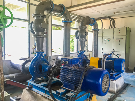water treatment plant: Pump motor in Water Treatment Plant of Thailand. Editorial