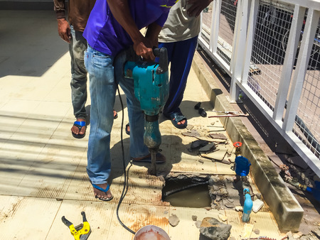 vibrations: Concrete Drilling for repair the pipe