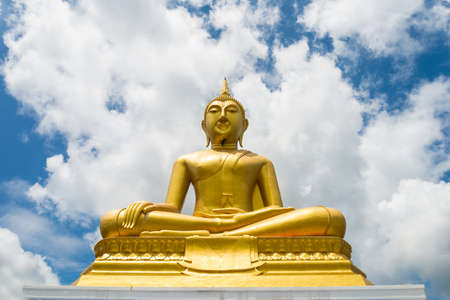 temple thailand: Buddha statue in the temple of Thailand. Stock Photo