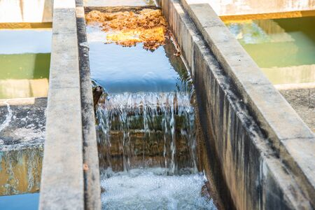 turbidity: Water treatment plants of the Waterworks in Thailand. Water purification Stock Photo