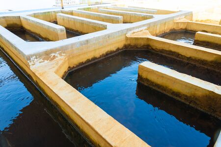Water treatment plants of the Waterworks in Thailand. Water purification Stock Photo