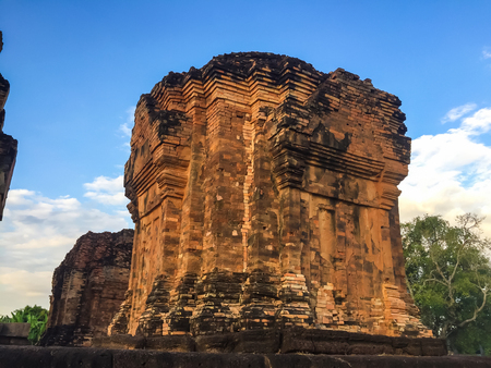 Khmer Castle in the temple of Thailand. Stock Photo
