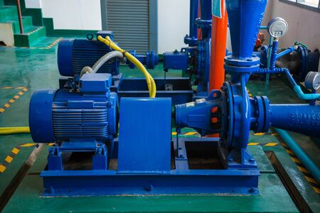 Pump motor in Water Treatment Plant of Thailand. Editorial