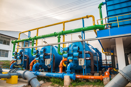 Water treatment process and Water treatment plants, Tank tower Imagens